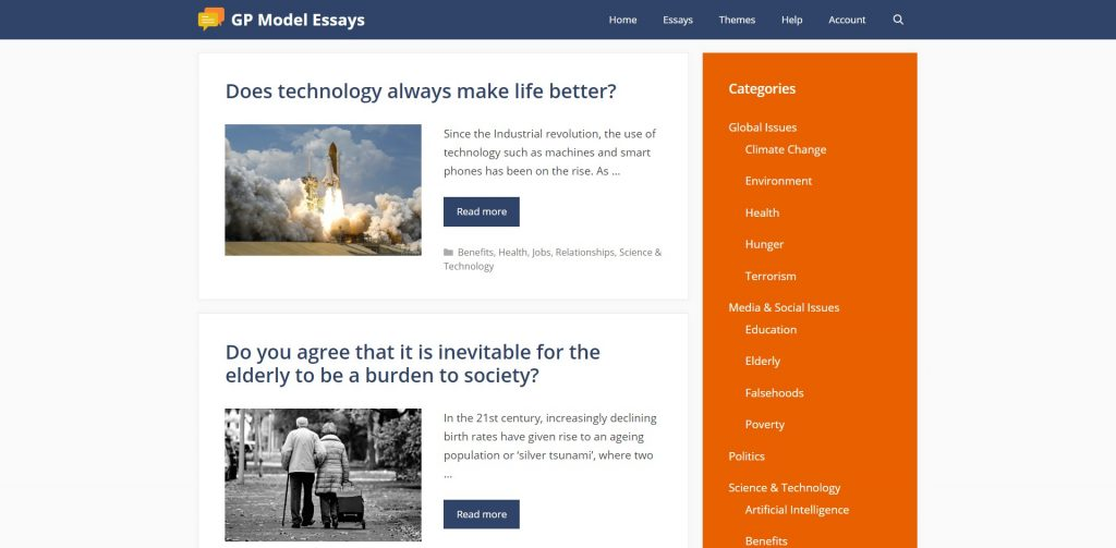 gp essays gp model essays singapore
